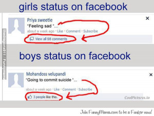 girls vs boys Facebook Logic