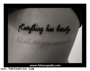 Word Quotes Tattoos 1