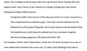 When you are writing a MLA style research paper how do you put quotes in it?