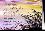 Teacher Retirement Congratulations - Watercolored Sunset, Sky, Sea ...
