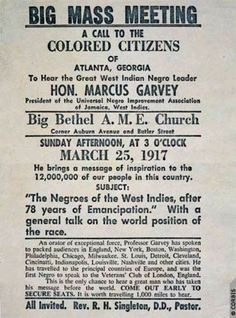 Marcus Garvey More