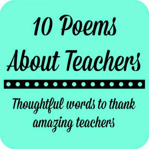 Teacher Appreciation Gift - Framed Poem