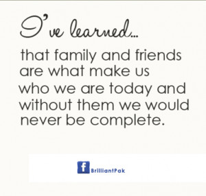Family Quotes and Sayings About Friends