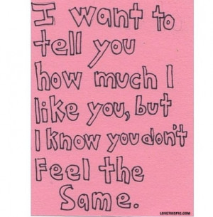 You Dont Feel The Same