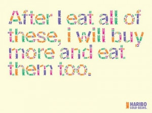 color, colour, food, haribo, quotes, text, typography, words