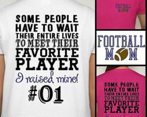 Football Mom t-shirt Proud Football Mom Shirt Sports Fan Cheer S M L ...