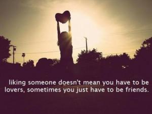 liking someone