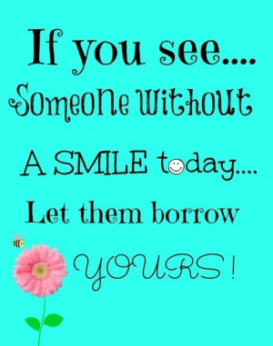 smile be happy free printable