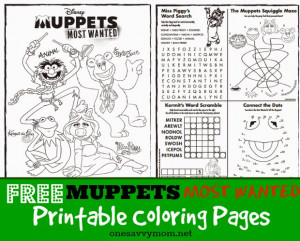 ... Pages - Featuring Kermit The Frog, Miss Piggy, Fozzie Bear, and Animal