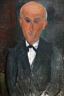 Max Jacob by Amedeo Modigliani (1916) -