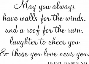 Vinyl Ready Quote - Irish Blessing