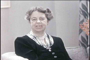 Historical footage of Eleanor Roosevelt from 1933 – 1957, including ...