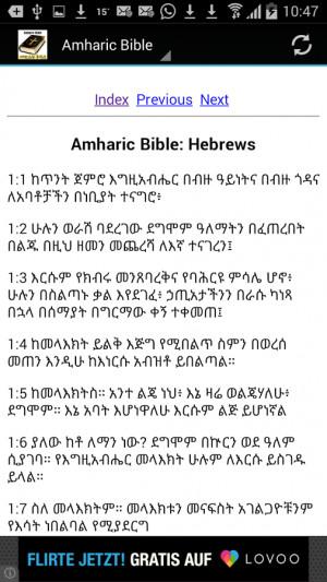 Amharic Bible Translation - screenshot