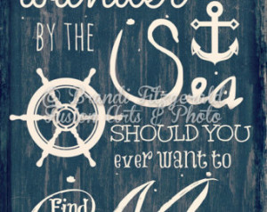 Wander By The Sea. Beach Quote Nau tical Decor as seen on Zulily ...