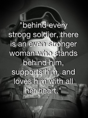 Military spouses.....More true words have rarely been said. However ...