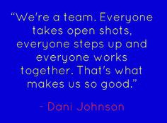 # team # player ten quot danijohnson quot johnson danijohnson quotes ...