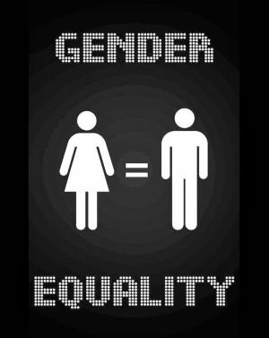 Gender Inequality Symbol You don't want gender equality .