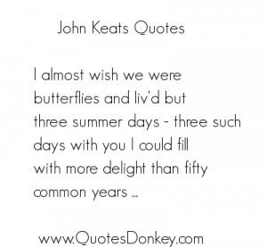 Quotes of John keats