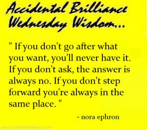 Accidental Brilliance Wednesday Wisdom...