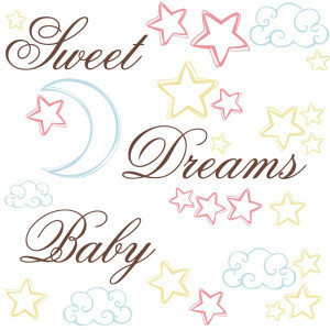 Home | Sweet Dreams Baby Quote Wall Stickers