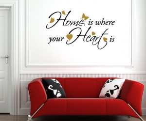 HOME IS where your HEART IS two colour wall sticker