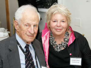 ... City District Attorney Robert Morgenthau and his wife Lucinda Franks
