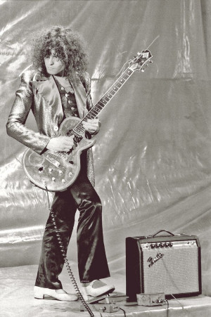 Marc Bolan. (Look at the size amplifier - sweet, eh? Everything was ...