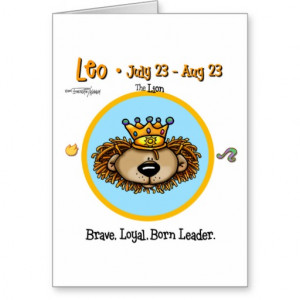 Leo the Lion - Horoscope Greeting Card