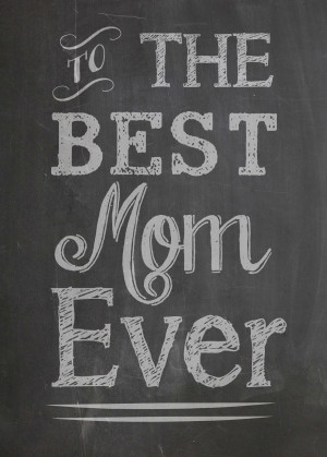 Printable Chalkboard Mother's Day Card Set