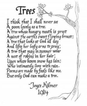 Trees, by Joyce Kilmer