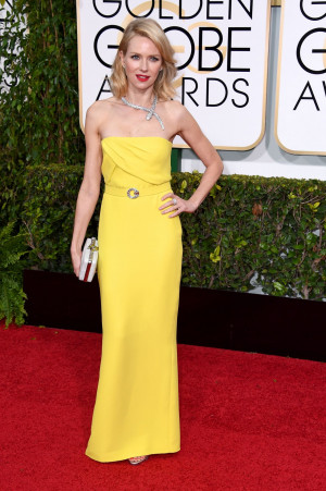 2015 Golden Globes Naomi Watts