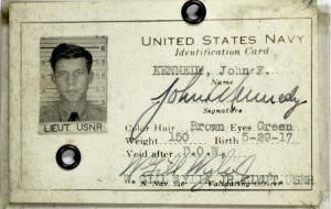 John F. Kennedy's Navy ID Card
