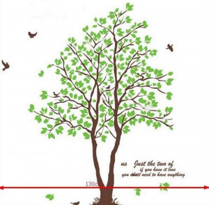 Removable Quote Art Vinyl Wall Sticker Home Decor Decal DIY Green Tree ...