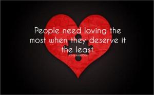 Selfless love...
