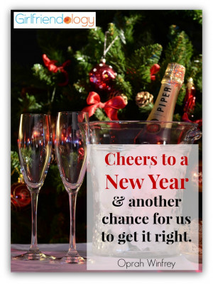 Cheers to a New Year & another chance for us to get it right ...