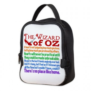 ... gifts beautiful bags totes wizard of oz quotes neoprene lunch bag