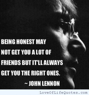 ... john lennon quote on being honest john lennon quote on honesty john