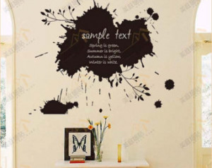 Abstract Wall Decal Quote-Ink Marks,Removable Wall Decal,Fashion Vinyl ...