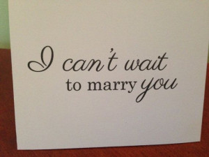 Can't Wait to Marry You Wedding Card For by BlingSparklesOhMy, $2.98