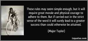 More Major Taylor Quotes