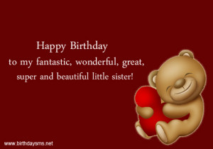 Little Sister Birthday Quotes Funny