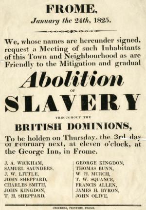 Abolition of Slavery: morality > economy ?