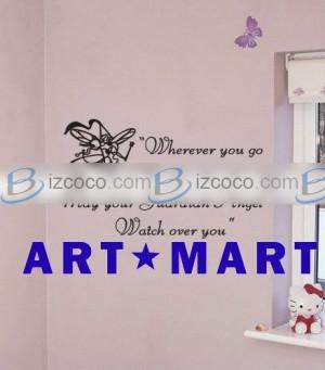 Guardian Angel Wall Sticker Quote, Monogram Wall Sticker No.045 Price ...