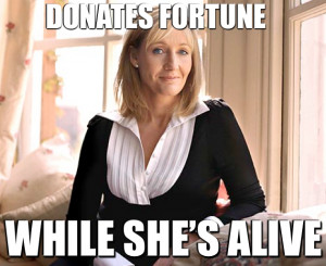 Good Girl JK Rowling lost her billionaire status by generously giving ...