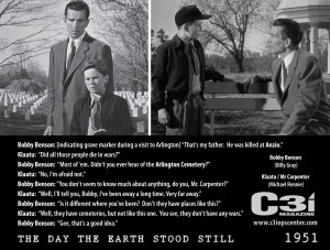 at Anzio The Day the Earth Stood Still Movie Quote 1951