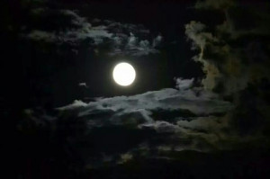 ... it the night of the super moon in New Mexico 2014. Can you see him