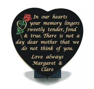 Mother Memorial Heart