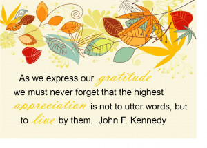Thanksgiving Quotes John F Kennedy