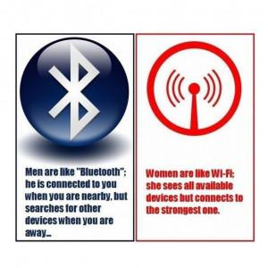 Men Are Like Bluetooth; Women Are Like Wi-Fi…