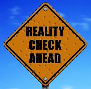 reality check road sign